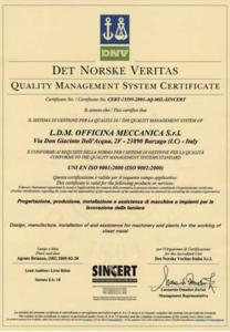 ldm certificato ISO